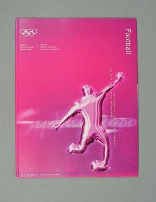 Programme, Sydney 2000 Olympic Games - Football