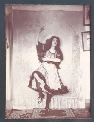 Photograph from Frank Laver's photograph album, image of young woman c1905
