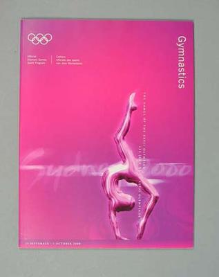 Programme, Sydney 2000 Olympic Games - Gymnastics