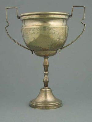 Trophy, North Kew Tennis Club - Eight Hour Day Mixed Doubles tournament 1939