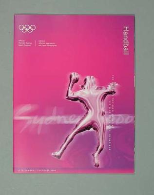 Programme, Sydney 2000 Olympic Games - Handball
