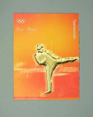 Programme, Sydney 2000 Olympic Games - Taekwondo