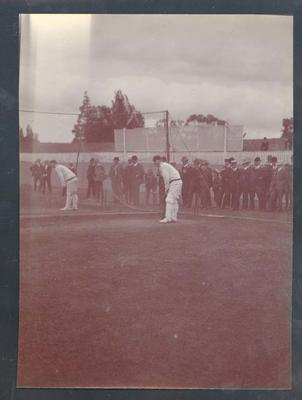 Photograph from Frank Laver's photograph album, image of South African cricketers c1910