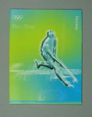 Programme, Sydney 2000 Olympic Games - Hockey