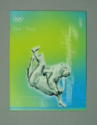 Programme, Sydney 2000 Olympic Games - Judo