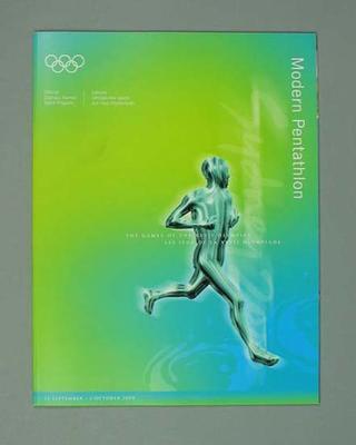 Programme, Sydney 2000 Olympic Games - Modern Pentathlon