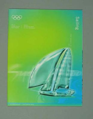 Programme, Sydney 2000 Olympic Games - Sailing
