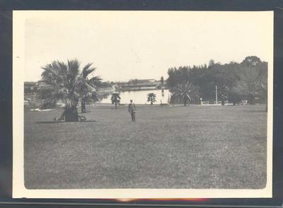 Photograph from Frank Laver's photograph album, image of park c1910