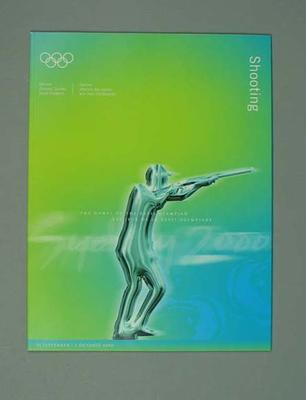 Programme, Sydney 2000 Olympic Games - Shooting