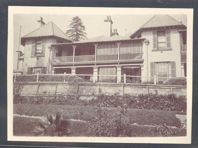 Photograph from Frank Laver's photograph album, image of large house c1910