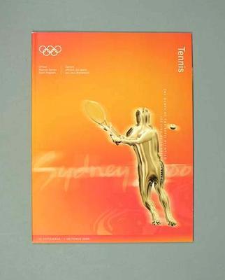 Programme, Sydney 2000 Olympic Games - Tennis