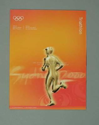 Programme, Sydney 2000 Olympic Games - Triathlon