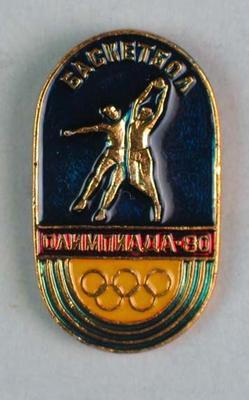 Badge, 1980 Olympic Games - Basketball