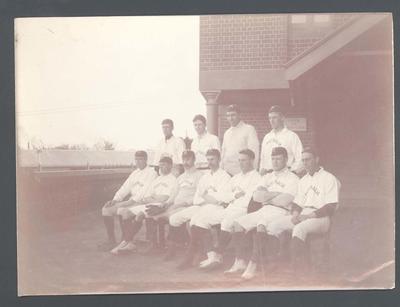 Photograph of Australian baseball players, c1905
