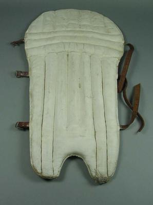 Cricket pads, c1950s-60s; Sporting equipment; 2002.3879.8