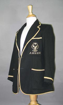 Blazer, Adelaide University Women's Cricket Club c1950s-60s