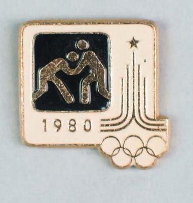 Badge, 1980 Olympic Games - Wrestling