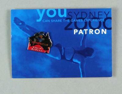 Lapel Pin - The Olympic Club, Patron Member - Australia-shaped pin
