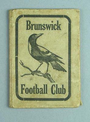 Season ticket, Brunswick Football Club - 1920