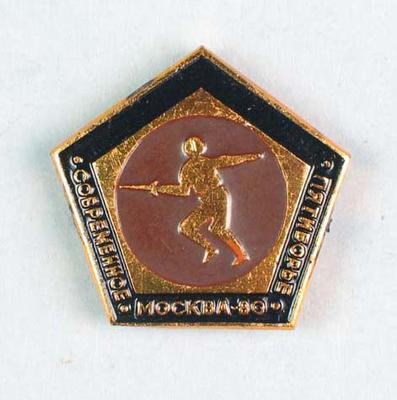 Badge, 1980 Olympic Games - Modern Pentathlon (Fencing)