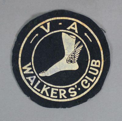 Cloth patch, Victorian Amateur Walker's Club c1930s; Clothing or accessories; 1994.3095.39