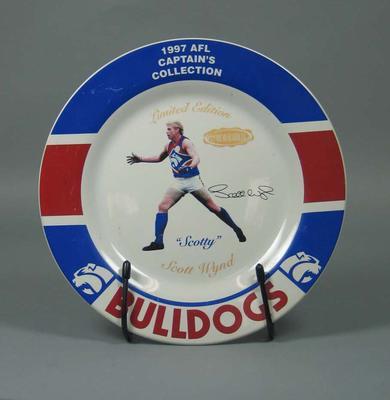 Plate, Scott Wynd - 1997 Western Bulldogs FC Captain