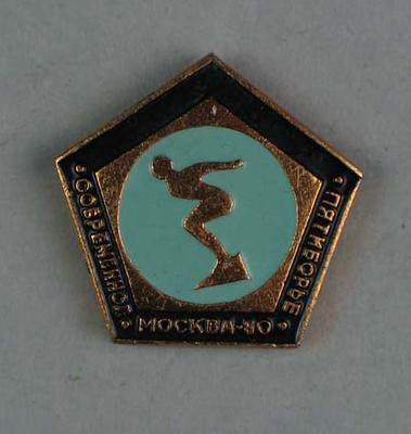 Badge, 1980 Olympic Games - Modern Pentathlon (Swimming)