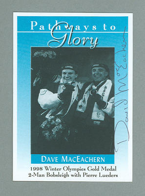 Pathways to Glory Dave MacEachern trade card