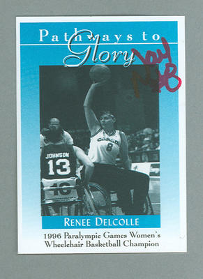 Pathways to Glory Renee Delcolle Doan trade card