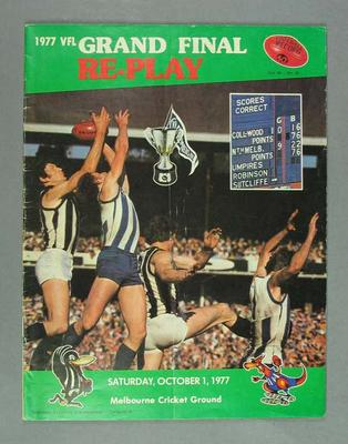 Football Record, 1977 VFL Grand Final Replay