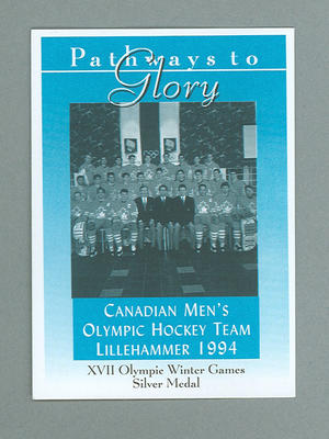 Pathways to Glory Canadian Men's 1994 Olympic Ice Hockey team trade card