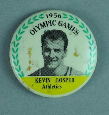 Lapel pin, 1956 Australian Olympic Games team - Kevan Gosper