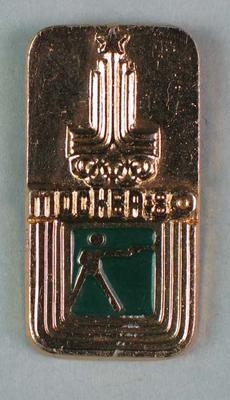 Badge, 1980 Olympic Games - Pistol Shooting