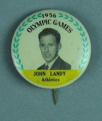 Lapel pin, 1956 Australian Olympic Games team - John Landy