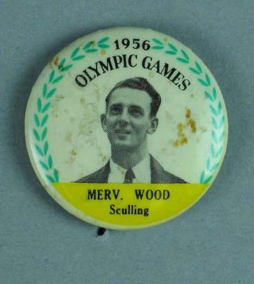 Lapel pin, 1956 Australian Olympic Games team - Merv Wood; Clothing or accessories; 2002.3863.10