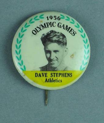 Lapel pin, 1956 Australian Olympic Games team - Dave Stephens