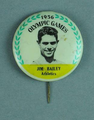 Lapel pin, 1956 Australian Olympic Games team - Jim Bailey
