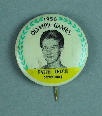 Lapel pin, 1956 Australian Olympic Games team - Faith Leech