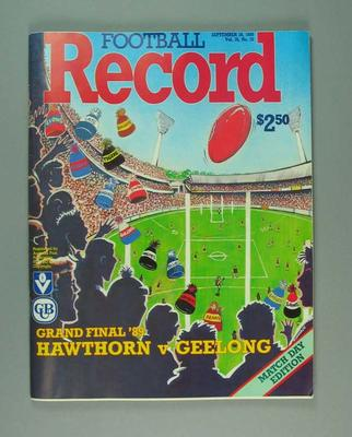 Football Record, 1989 VFL Grand Final