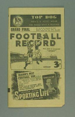 Football Record, 1949 VFL Grand Final