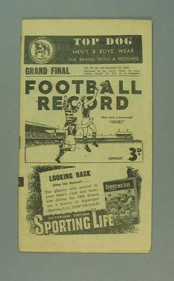 Football Record, 1950 VFL Grand Final