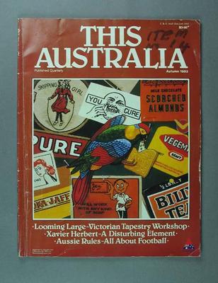 """Magazine, """"This Australia"""" vol 2 no 2 Autumn 1983; Documents and books; 1994.2963.14.1"""