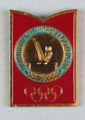 Badge, 1980 Olympic Games - Gymnastics (Parallel Bar)