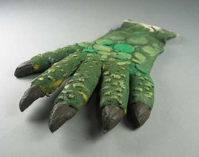 Crocodile glove, worn at Sydney 2000 Olympic Games Closing Ceremony