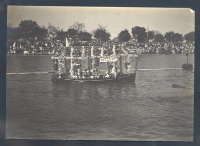 Photograph from Frank Laver's photograph album, Yarra River regatta c1905