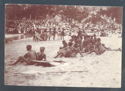Photograph from Frank Laver's photograph album, Manly Beach c1909