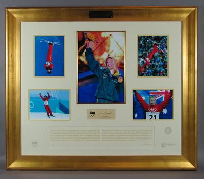 Photograph montage of Alisa Camplin, 2002 Winter Olympic Games