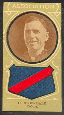 Trade card featuring Greg Stockdale c1930s