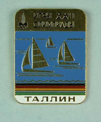 Badge, 1980 Olympic Games - Sailing