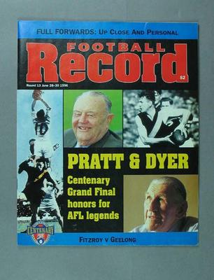 """Magazine, """"Football Record"""" 28-30 June 1996 vol 85 no 17; Documents and books; Documents and books; 1996.3184"""